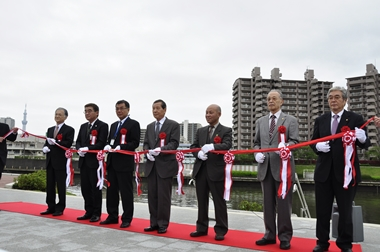 2015年4月21日(火)「隅田川スーパー堤防開放記念式典」